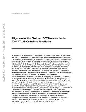 Primary view of object titled 'Alignment of the Pixel and SCT Modules for the 2004 ATLAS Combined Test Beam'.