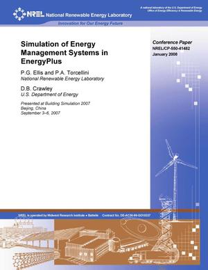 Primary view of object titled 'Simulation of Energy Management Systems in EnergyPlus'.