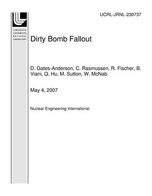 Primary view of object titled 'Dirty Bomb Fallout'.