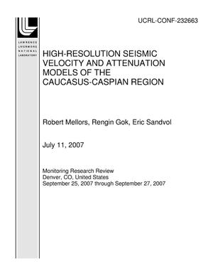 Primary view of object titled 'HIGH-RESOLUTION SEISMIC VELOCITY AND ATTENUATION MODELS OF THE CAUCASUS-CASPIAN REGION'.