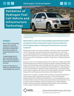 Primary view of object titled 'Validation of Hydrogen Fuel Cell Vehicle and Infrastructure Technology (Fact Sheet)'.