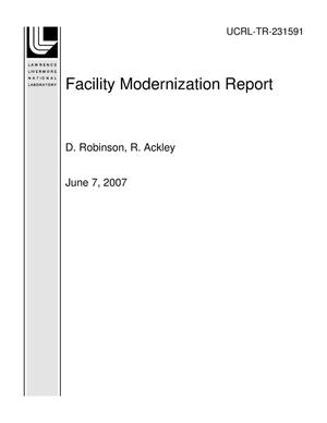 Primary view of object titled 'Facility Modernization Report'.
