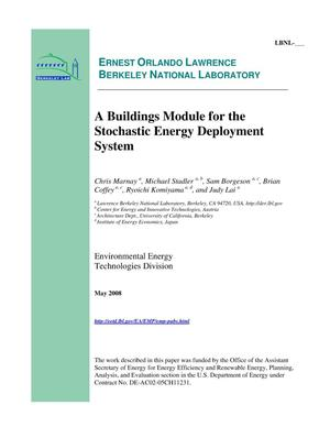 Primary view of object titled 'A Buildings Module for the Stochastic Energy Deployment System'.