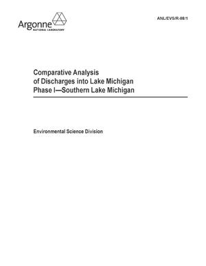 Primary view of object titled 'Comparative analysis of discharges into Lake Michigan, Phase I - Southern Lake Michigan.'.