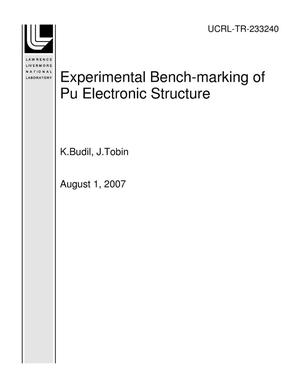 Primary view of object titled 'Experimental Bench-marking of Pu Electronic Structure'.