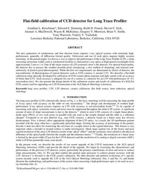 Primary view of object titled 'Flat-Field Calibration of CCD Detector for Long TraceProfilers'.