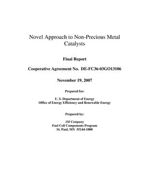 Primary view of object titled 'Final Report - Novel Approach to Non-Precious Metal Catalysts'.