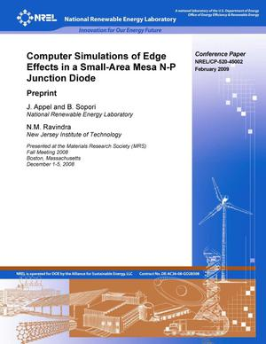 Primary view of object titled 'Computer Simulations of Edge Effects in a Small-Area Mesa N-P Junction Diodes: Preprint'.