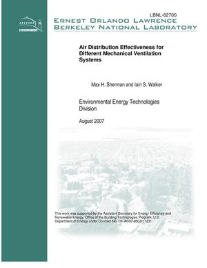 Primary view of object titled 'Air Distribution Effectiveness for Different MechanicalVentilation Systems'.