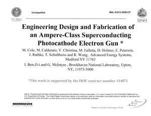 Primary view of object titled 'Engineering Design and Fabrication of an Ampere-Class Superconducting Photocathode Electron Gun'.