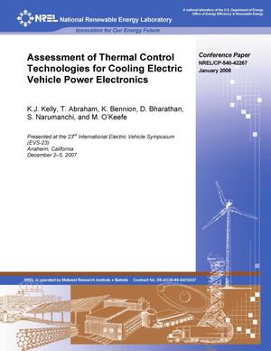Primary view of object titled 'Assessment of Thermal Control Technologies for Cooling Electric Vehicle Power Electronics'.