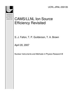 Primary view of object titled 'CAMS/LLNL Ion Source Efficiency Revisited'.
