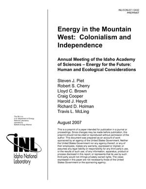 Primary view of object titled 'Energy in the Mountain West: Colonialism and Independence'.
