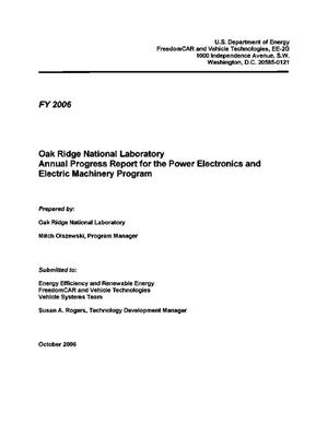 Primary view of object titled 'Oak Ridge National Laboratory Annual Progress Report for the Power Electronics and Electric Machinery Program'.