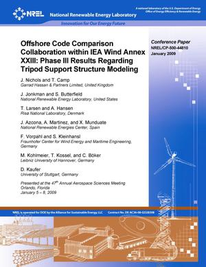 Primary view of object titled 'Offshore Code Comparison Collaboration within IEA Wind Annex XXIII: Phase III Results Regarding Tripod Support Structure Modeling'.