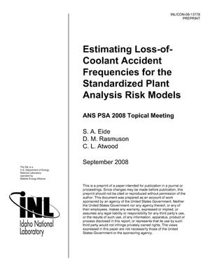 Primary view of object titled 'Estimating Loss-of-Coolant Accident Frequencies for the Standardized Plant Analysis Risk Models'.