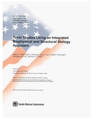 Primary view of object titled 'Toxin studies using an integrated biophysical and structural biology approach.'.
