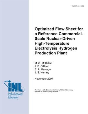 Primary view of object titled 'Optimized Flow Sheet for a Reference Commercial-Scale Nuclear-Driven High-Temperature Electrolysis Hydrogen Production Plant'.