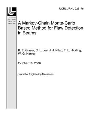 Primary view of object titled 'A Markov-Chain Monte-Carlo Based Method for Flaw Detection in Beams'.