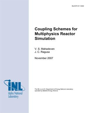 Primary view of object titled 'Coupling Schemes for Multiphysics Reactor Simulation'.