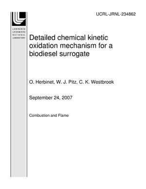 Primary view of object titled 'Detailed chemical kinetic oxidation mechanism for a biodiesel surrogate'.