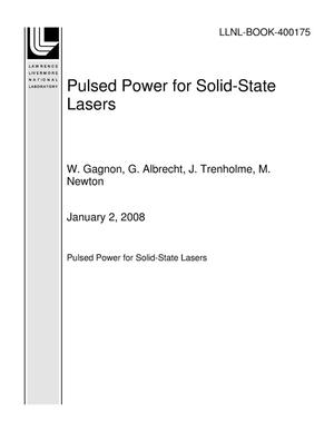 Primary view of object titled 'Pulsed Power for Solid-State Lasers'.