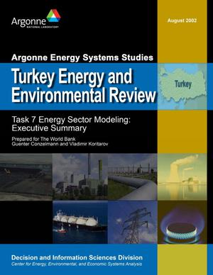 Primary view of object titled 'Turkey energy and environmental review - Task 7 energy sector modeling : executive summary.'.