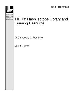 Primary view of object titled 'FILTR: Flash Isotope Library and Training Resource'.