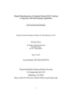 Primary view of object titled 'Digital Manufacturing of Gradient Meshed SOFC Sealing Composites with Self-Healing Capabilities'.