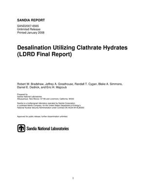 Primary view of object titled 'Desalination utilizing clathrate hydrates (LDRD final report).'.
