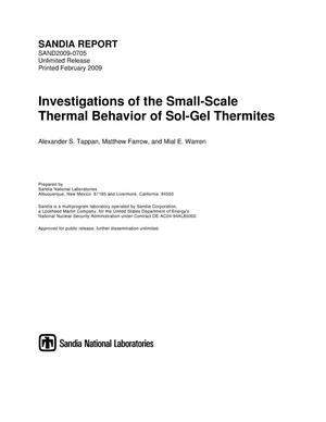Primary view of object titled 'Investigations of the small-scale thermal behavior of sol-gel thermites.'.