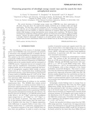 Primary view of object titled 'Clustering properties of ultrahigh energy cosmic rays and the search for their astrophysical sources'.