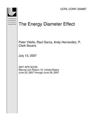 Primary view of object titled 'The Energy Diameter Effect'.