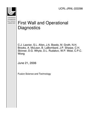 Primary view of object titled 'First Wall and Operational Diagnostics'.