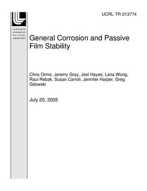 Primary view of object titled 'General Corrosion and Passive Film Stability'.