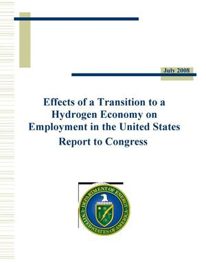 Primary view of object titled 'Effects of a Transition to a Hydrogen Economy on Employment in the United States'.