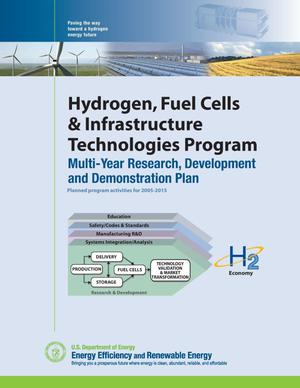 Primary view of object titled 'Hydrogen, Fuel Cells and Infrastructure Technologies Program: Multiyear Research, Development and Demonstration Plan'.