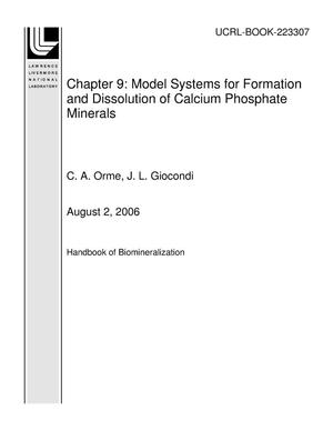 Primary view of object titled 'Chapter 9: Model Systems for Formation and Dissolution of Calcium Phosphate Minerals'.