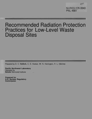 Primary view of object titled 'Recommended Radiation Protection Practices for Low-Level Waste Disposal Sites'.