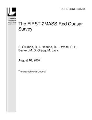 Primary view of object titled 'The FIRST-2MASS Red Quasar Survey'.