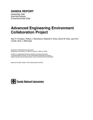 Primary view of object titled 'Advanced engineering environment collaboration project.'.