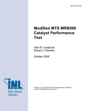 Primary view of object titled 'Modified MTS MRB500 CATALYST PERFORMANCE TEST'.