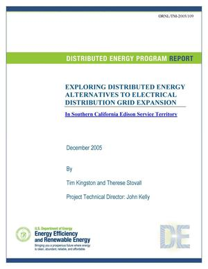 Primary view of object titled 'Exploring Distributed Energy Alternatives to Electrical Distribution Grid Expansion in Souhern California Edison Service Territory'.