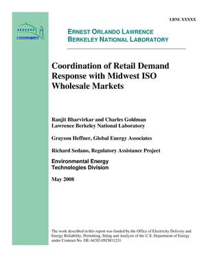 Primary view of object titled 'Coordination of Retail Demand Response with Midwest ISO Markets'.