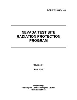 Primary view of object titled 'Nevada Test Site Radiation Protection Program - Revision 1'.