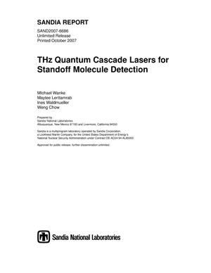 Primary view of object titled 'THz quantum cascade lasers for standoff molecule detection.'.
