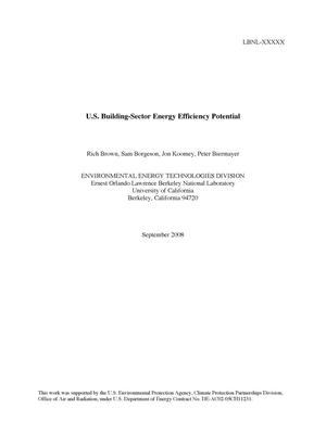Primary view of object titled 'U.S. Building-Sector Energy Efficiency Potential'.