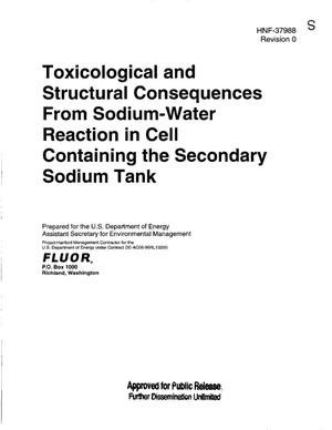 Primary view of object titled 'TOXICOLOGICAL AND STRUCTURAL CONSEQUENCES FROM SODIUM-WATER REACTION IN CELL CONTAINING THE SECONDARY SODIUM TANK'.