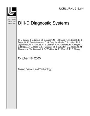 Primary view of object titled 'DIII-D Diagnostic Systems'.