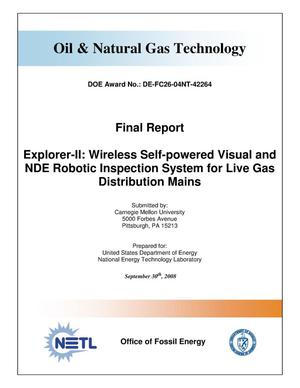 Primary view of object titled 'Explorer-II: Wireless Self-Powered Visual and NDE Robotic Inspection System for Live Gas Distribution Mains'.